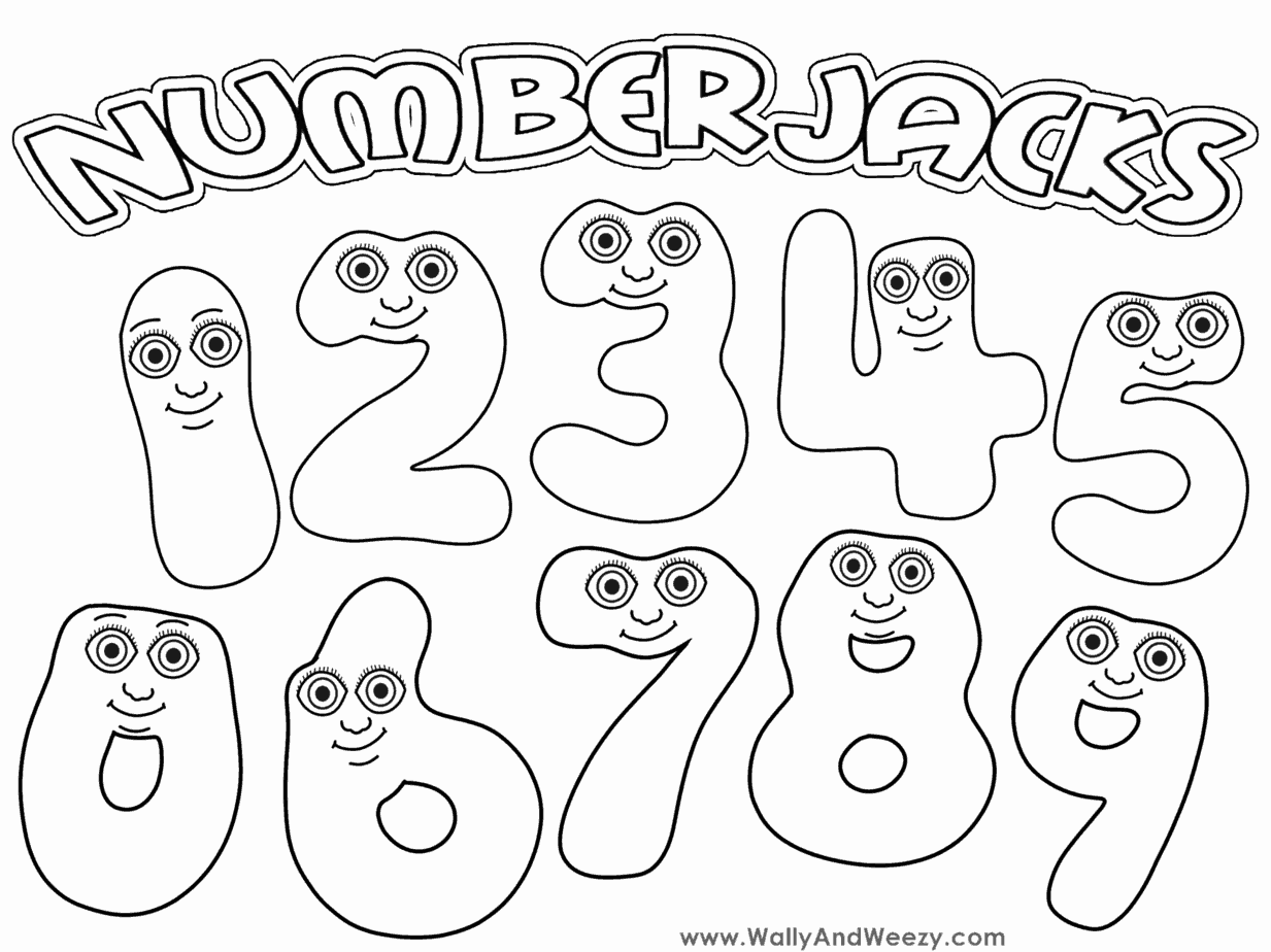 Numberjacks Drawing/Coloring Video and Downloadable Coloring Page