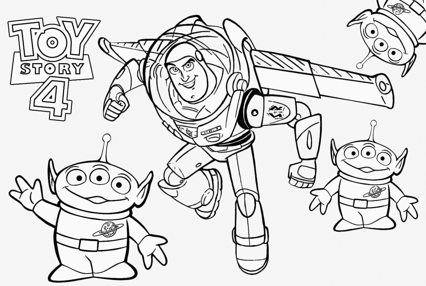 Buzz Lightyear with his wings - Toy Story Kids Coloring Pages | 924x1378