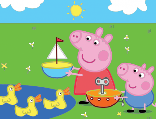 Peppa Pig and George Coloring Page for Kids