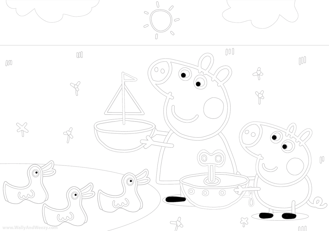 peppa-pig-and george-coloring-page